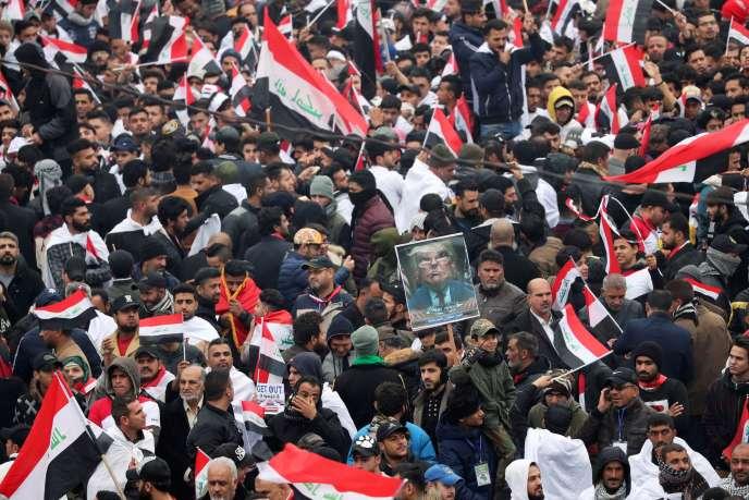 Manifestation à l'appel de Moqtada Al-Sadr, à Bagdad,le 24 janvier.