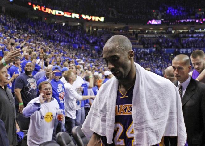 Kobe Bryant, en 2012, sous le maillot des Los Angeles Lakers.