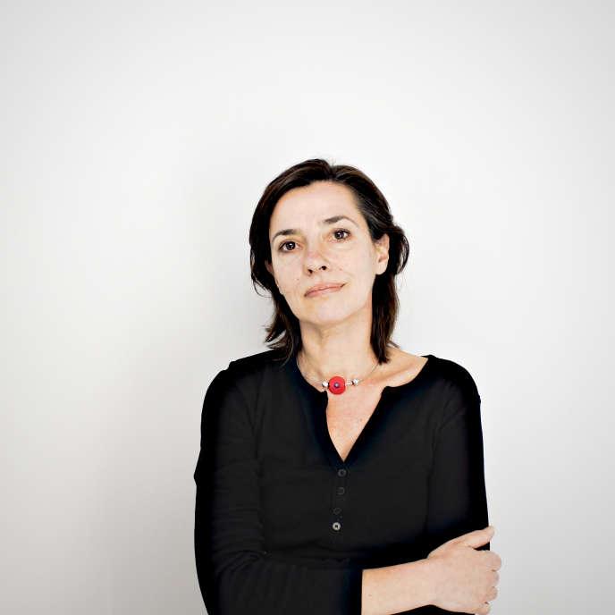 Anne Favalier, journaliste au «Monde», en mai 2013.