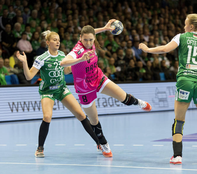 La Brestoise Monika Kobylinska contre Gyor, le 27 janvier 2020.