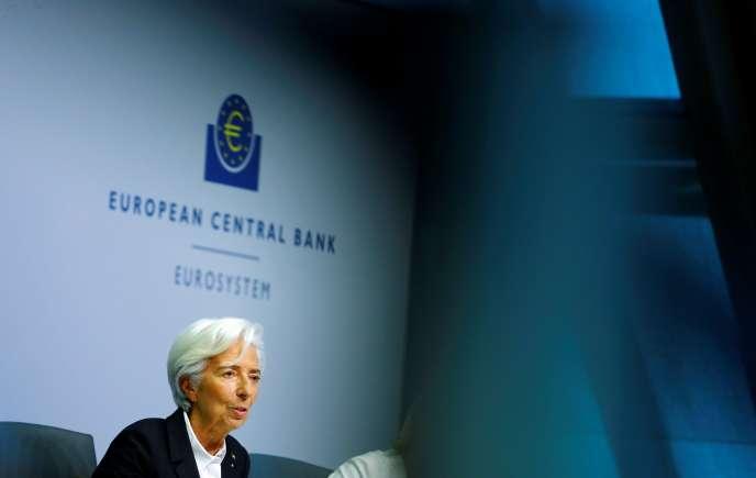 La présidente de la Banque centrale européenne, Christine Lagarde, à Francfort, Allemagne, le 23 janvier.