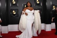 La chanteuse Lizzo à son arrivée pour la 62e cérémonie des Grammy Awards, à Los Angeles, le 26 janvier.