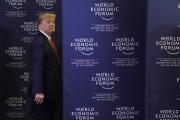 Donald Trump à Davos, le 22 janvier.