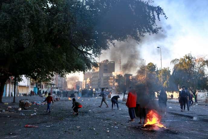 Manifestation à Bagdad, dimanche 26 janvier.