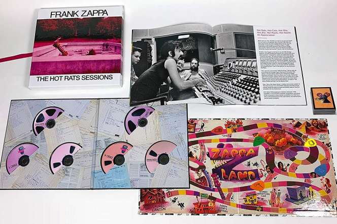 Le coffret de 6 CD « The Hot Rats Sessions », de Frank Zappa.