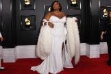 La rappeuse Lizzo à son arrivée pour la 62e cérémonie des Grammy Awards, à Los Angeles, dimanche 26 janvier.