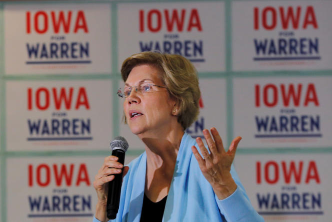 Elizabeth Warren en campagne à Grimes, dans l'Iowa, le 20janvier.