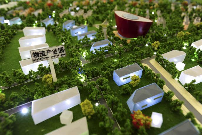 La maquette de la zone d'activites économiques franco-chinoise, présentée à l'Agence de développement économique de l'Indre (ADEI).