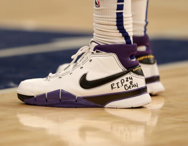 Les chaussures de Marcus Morris Sr, de l'équipe des New York Knicks, pendant un match au Madison Square Garden, le 26janvier.