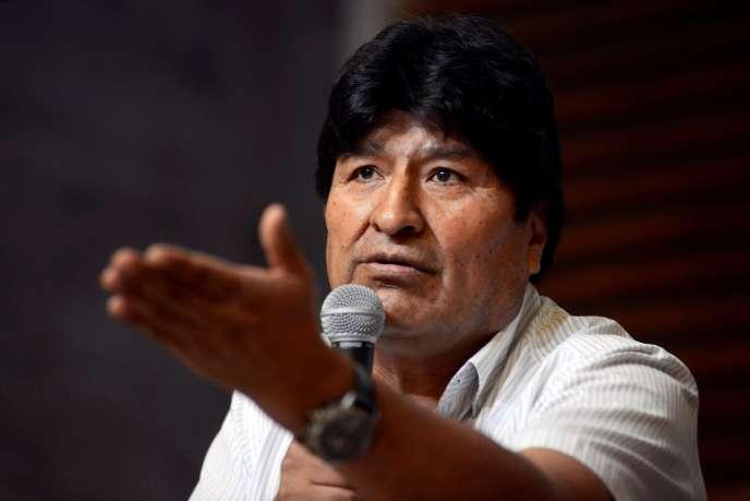 L'ancien président bolivien Evo Morales, le 27janvier à Buenos Aires, en Argentine, où il est en exil.