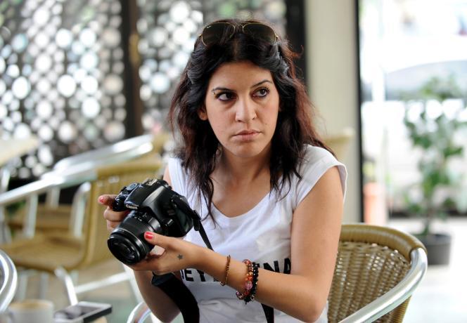 Lina Ben Mhenni, autrice du célèbre blog A Tunisian Girl, en 2013.