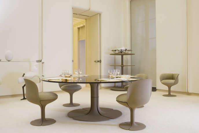Vue d'un des salons Pierre Paulin pour le président Pompidou (1971).