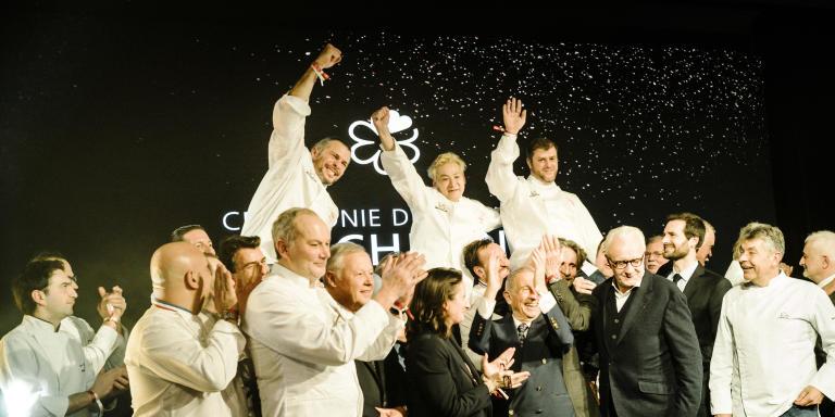 Remise des Étoiles Michelin Pavillon Gabriel Paris, 27 janvier 2020 ©Frédéric Stucin
