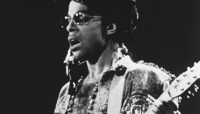 Prince lors d'un concert du Sign O'the Times Tour, en 1987.