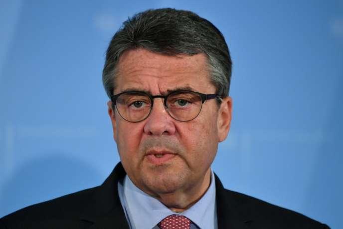 L'ancien vice-chancelier allemand Sigmar Gabriel, en octobre 2017, à Berlin.