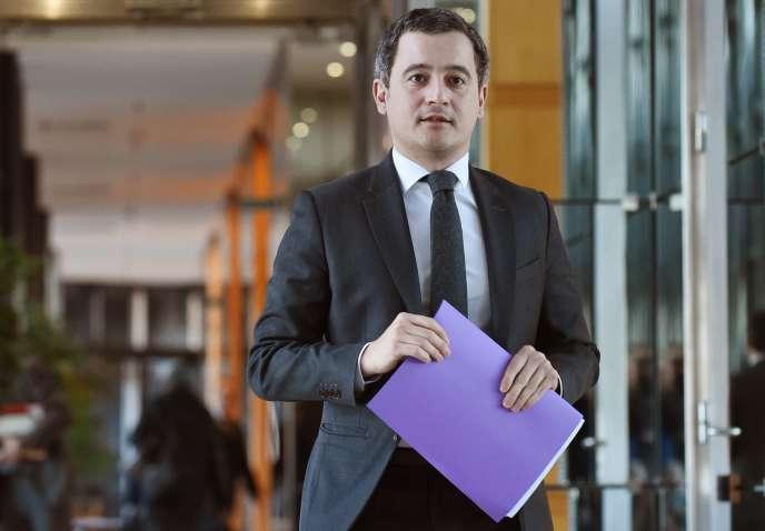 Gérald Darmanin, le ministre de l'action et des comptes publics, au ministère de l'économie et des finances, le 28 janvier.