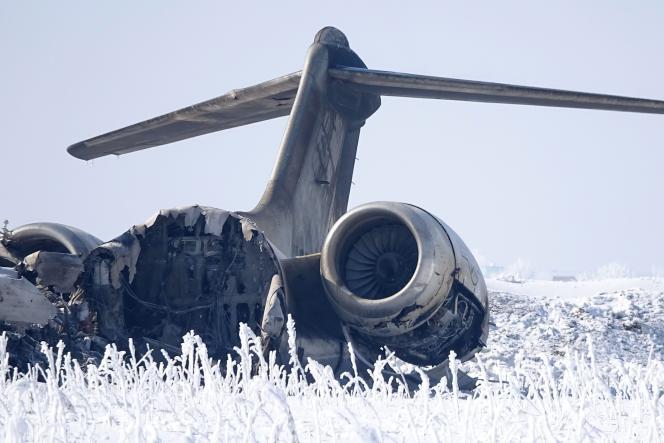 Le Bombardier E-11A qui s'est écrasé dans la province de Ghazni, en Afghanistan, le 27 janvier.
