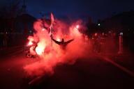 Lors de la manifestation des pompiers à Paris, le 28 janvier 2020.