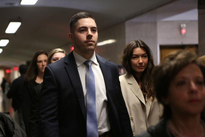 L'ancienne assistante de production Mimi Haleyi à son arrivée au tribunal de New York, le 27 janvier.