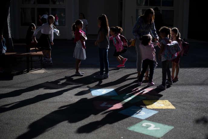 Ecole élémentaire de Beauchene à Marseille, le 3 septembre 2018.