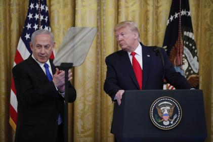 Le président américain Donald Trump et le premier ministre israélien Benyamin Netanyahou, le 28 janvier 2020.
