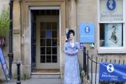 L'entrée du Jane Austen Centre à Bath dans le Somerset (Angleterre).