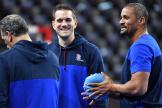 Guillaume Gille (au centre) va remplacer Didier Dinart à la tête de l'équipe de France de masculine handball.