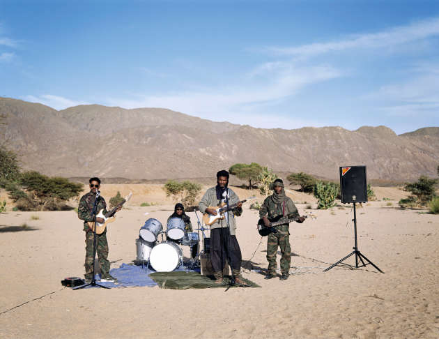 Groupe de blues touareg du MNJ, Niger, 2008.