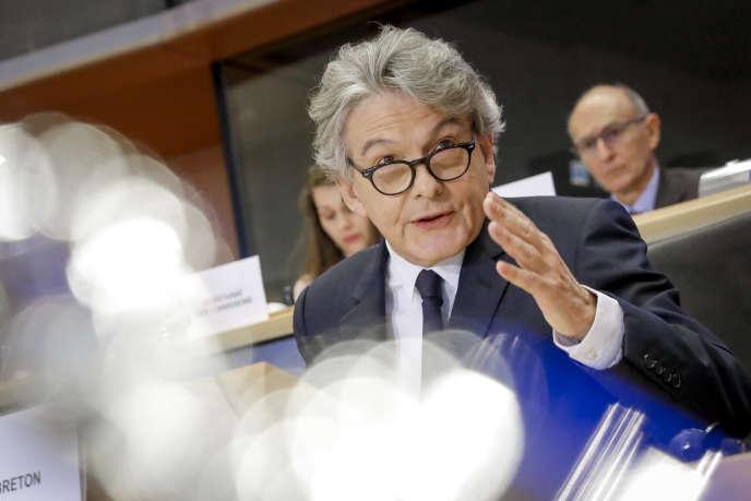 Thierry Breton est auditionné par les députés européens afin de devenir commissaire au marché intérieur,à Bruxelles, le 14 novembre 2019.