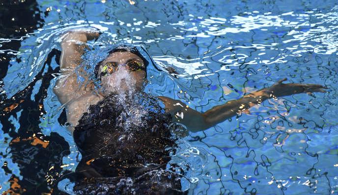 Béryl Gastaldello à Rennes, en avril 2019. Elle est la première nageuse en activité à avoir publiquement raconté sa dépression survenue fin 2017.