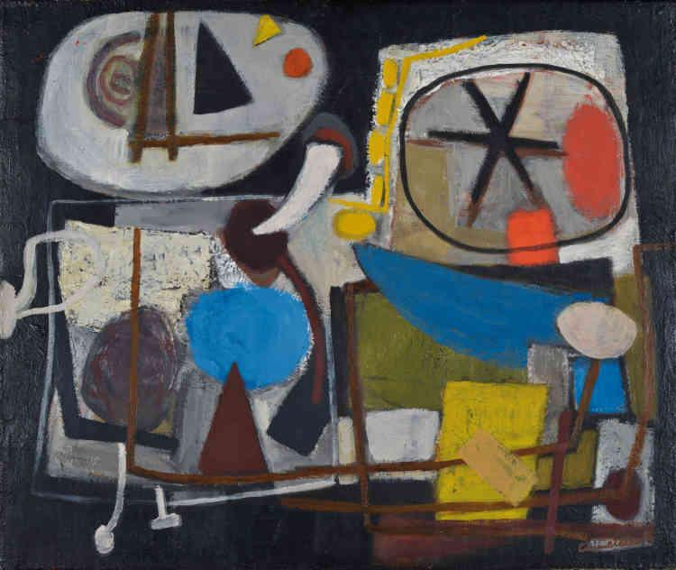 «Cobra est pour Corneille une aventure collective. En 1948, à Copenhague, la découverte de l'art des Danois Asger Jorn et Carl-Henning Pedersen est pour lui un véritable choc. Désormais, la spontanéité, l'emploi de la couleur pure ainsi que la référence aux arts populaires et aux dessins d'enfants caractérisent sa peinture.»