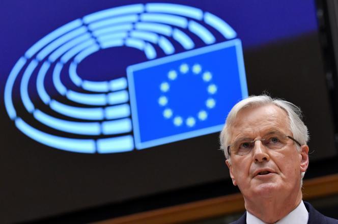 Le négociateur en chef de la Commission européenne, Michel Barnier, au Parlement européen à Bruxelles, le 29 janvier.