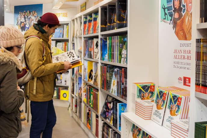 Lors de la 46e édition duFestival international de la bande dessinée d'Angoulême, le 24 janvier.
