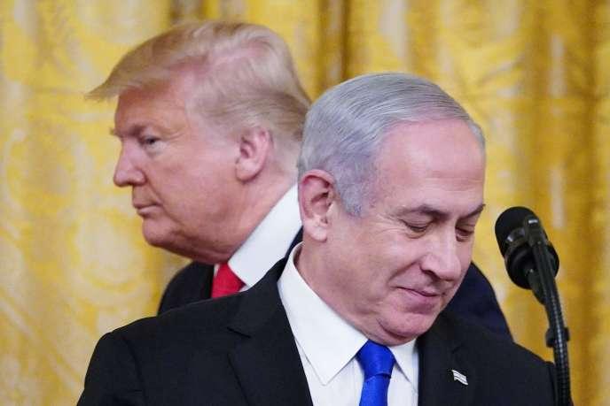Donald Trump et Benyamin Nétanyahou, à la Maison Blanche à Washington, le 28janvier.