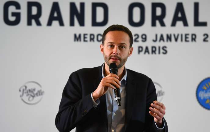David Belliard, le 29 janvier 2020 à Paris.