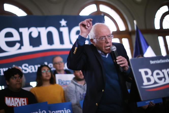 Bernie Sanders, le 26 janvier 2020 à Perry (Iowa).