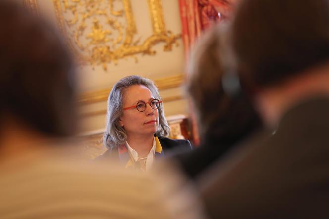 La députée Sabine Thillaye, à Paris, en mars 2019.