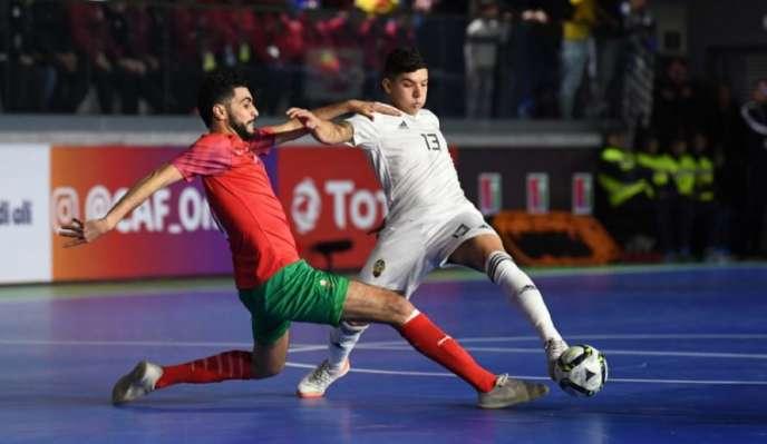 Match entre le Maroc et la Libye lors de la CAN de futsal à Laayoune, le 28janvier 2020.