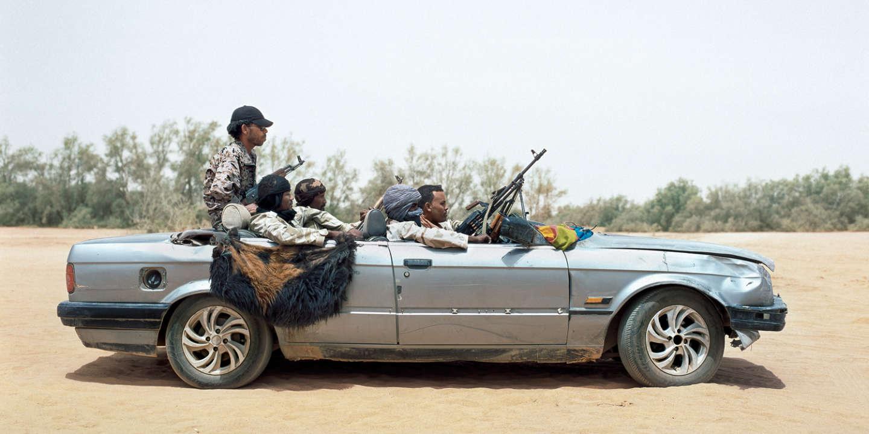 Libyan Tuareg militiamen, Awbari, southern Libya, 2015. Miliciens touaregs libyens, Awbari, sud de la Libye, 2015.
