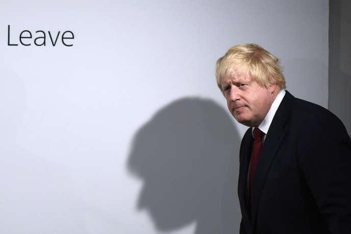 Boris Johnson lors d'une conférence de presse organisée après l'annonce des résultats du référendum sur le Brexit, à Londres, le 24 juin 2016.