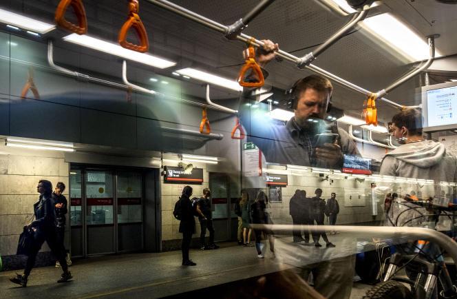Dans le métro à Moscou, le 14 septembre.