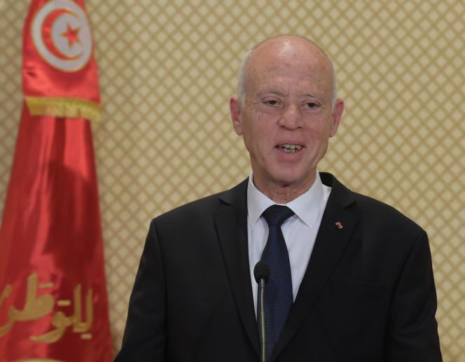 Le président tunisien Kaïs Saïed à Carthage, le 25 décembre 2019.