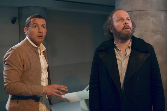 Dany Boon (Léo Milan) etPhilippe Katerine (Romain Tardy) dans« Le Lion», deLudovic Colbeau-Justin.