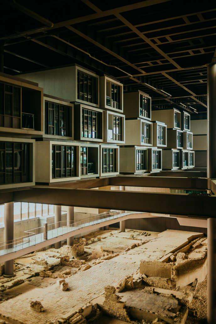 Les chambres du Museum Hotel, sises dans des cabines de béton aux allures de conteneurs.