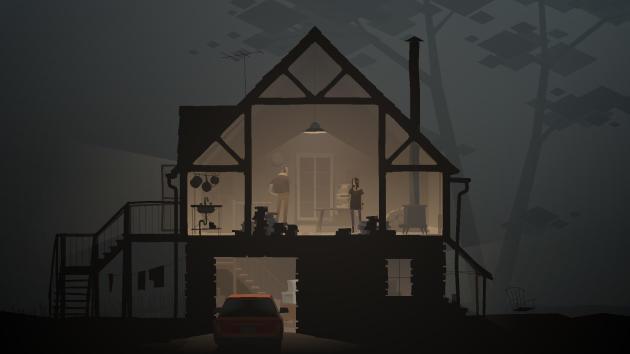 Dans le jeu, des architectures impossibles mêlent intérieur et extérieur.