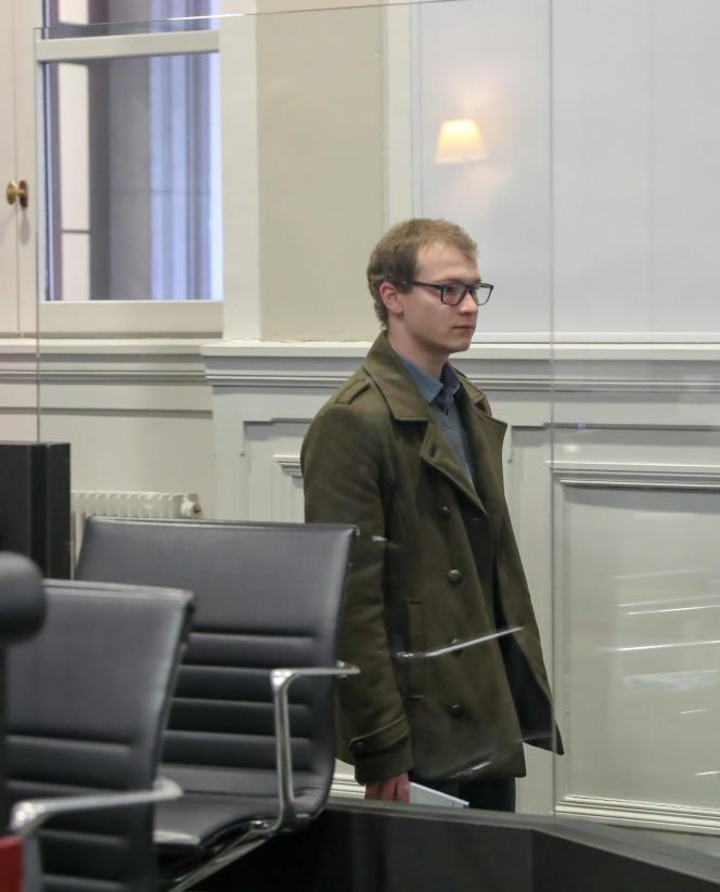 Adrien Bottollier aux assises de Chambéry, le 27 janvier.