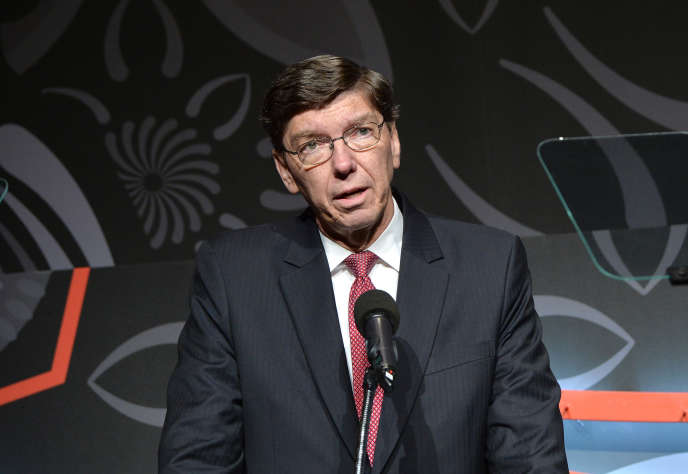 Clayton Christensen, professeur de management à Harvard, à New York, en 2016. Il est décédé jeudi 23 janvier 2020.