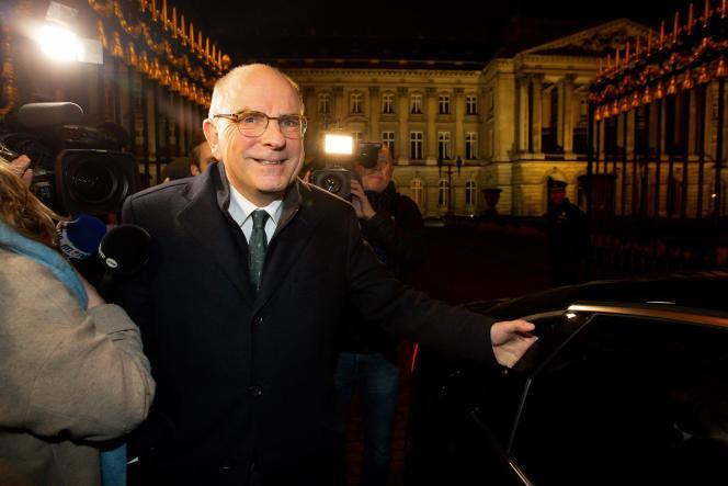 Koen Geens, chargé par le roi des Belges de former une coalition majoritaire, le 31 janvier à Bruxelles.
