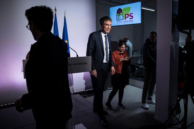 Le premier secrétaire du PS, Olivier Faure, au siège du parti, à Ivry-sur-Seine, le 21janvier.