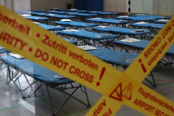 Centre d'examen médical à l'aéroport de Francfort, le 31 janvier.